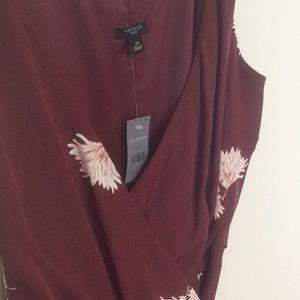 Ann Taylor Dresses - New Ann Taylor Summer blossom  Wrap Dress Sz 6p
